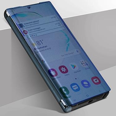 Avizar Etui folio Bleu pour Samsung Galaxy Note 10 pas cher