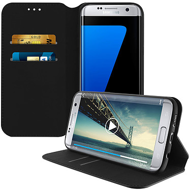 Avizar Etui folio Noir pour Samsung Galaxy S7 Edge pas cher