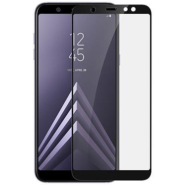Avizar Film verre trempé Noir pour Samsung Galaxy A6 Plus Film verre trempé Noir Samsung Galaxy A6 Plus