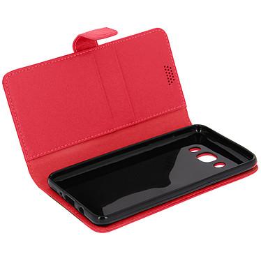 Avizar Etui folio Rouge pour Samsung Galaxy J5 2016 Etui folio Rouge Samsung Galaxy J5 2016