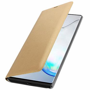 Avizar Etui folio Dorée pour Samsung Galaxy Note 10 pas cher