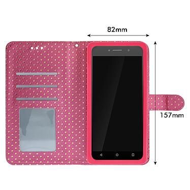 Avis Avizar Etui folio Fuchsia pour Smartphones de 5.5' à 6.0'