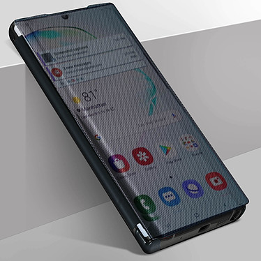 Avizar Etui folio Noir Translucide pour Samsung Galaxy Note 10 Plus pas cher