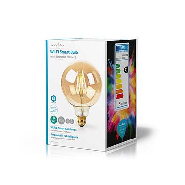 Avis Nedis Ampoule connectée à Filament LED Wi-Fi G125 NEDIS