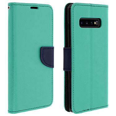 Avizar Etui folio Vert pour Samsung Galaxy S10 Plus Etui folio Vert Samsung Galaxy S10 Plus