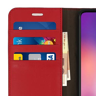 Avis Avizar Etui folio Rouge Cuir véritable pour Xiaomi Mi 9