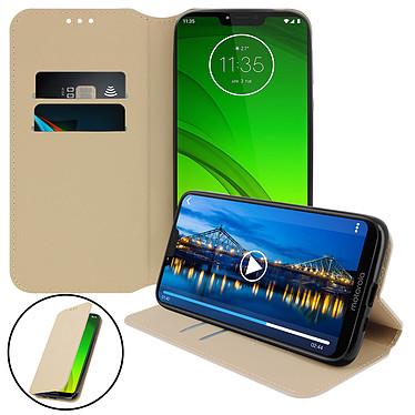 Avizar Etui folio Dorée pour Motorola Moto G7 Power pas cher