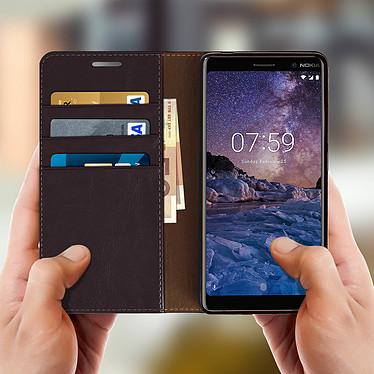 Acheter Avizar Etui folio Marron pour Nokia 7 plus