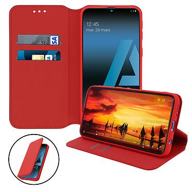 Avizar Etui folio Rouge pour Samsung Galaxy A40 pas cher