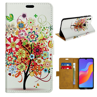 Avizar Etui folio Multicolore pour Honor 8A , Huawei Y6 2019 , Huawei Y6S , Honor 8A 2020 pas cher