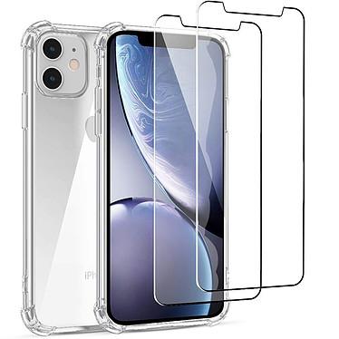 Acheter EVETANE Coque iPhone 11 Antichoc Silicone + 2 Vitres en verre trempé Protection écran