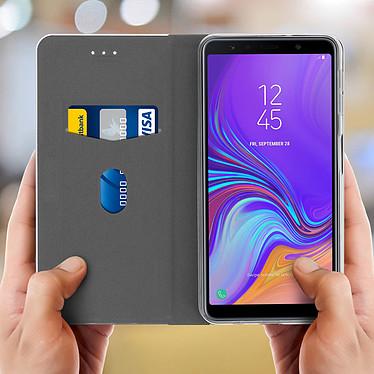 Acheter Avizar Etui folio Noir Portefeuille pour Samsung Galaxy A7 2018