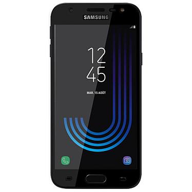 Avizar Film verre trempé Noir pour Samsung Galaxy J7 2017 pas cher