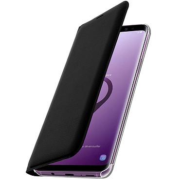 Avizar Etui folio Noir Éco-cuir pour Samsung Galaxy S9 Plus pas cher