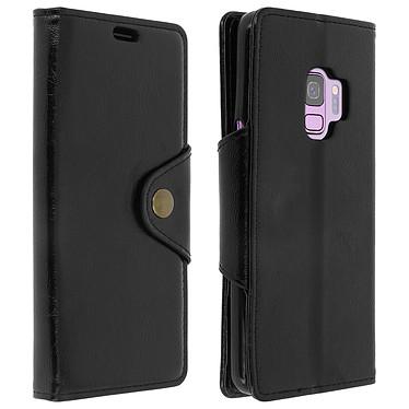 Avizar Etui folio Noir Éco-cuir pour Samsung Galaxy S9 pas cher