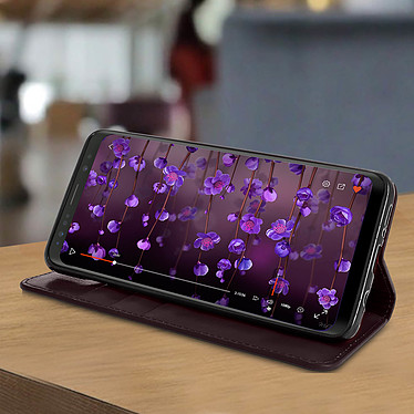 Avis Avizar Etui folio Marron pour Samsung Galaxy S9 Plus