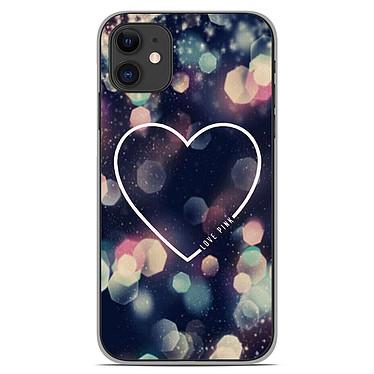 1001 Coques Coque silicone gel Apple iPhone 11 motif Coeur Love Coque silicone gel Apple iPhone 11 motif Coeur Love