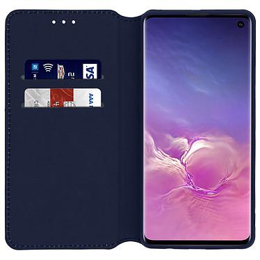 Avizar Etui folio Bleu Nuit pour Samsung Galaxy S10 pas cher