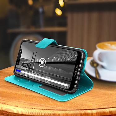 Avis Avizar Etui folio Turquoise pour Motorola Moto G7 , Motorola Moto G7 Plus