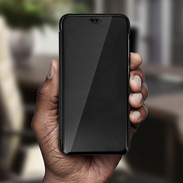 Avis Avizar Etui folio Noir Design Miroir pour Huawei Y7 2019