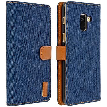 Avizar Etui folio Bleu Nuit pour Samsung Galaxy A8 Etui folio Bleu Nuit Samsung Galaxy A8