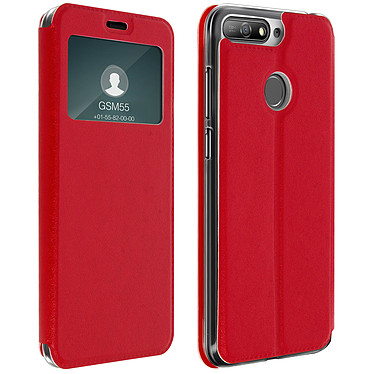 Avizar Etui folio Rouge pour Honor 7A , Huawei Y6 2018 Etui folio Rouge Honor 7A , Huawei Y6 2018