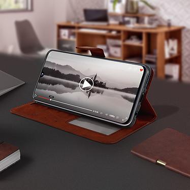 Avis Avizar Etui folio Marron pour Samsung Galaxy A40