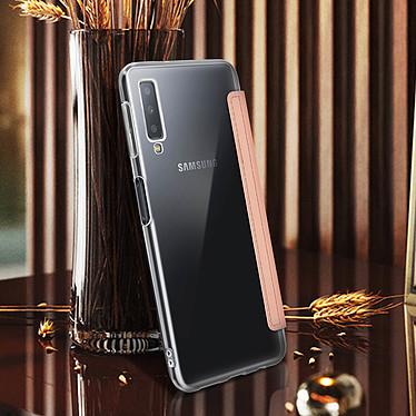 Avis Avizar Etui folio Rose Champagne Miroir pour Samsung Galaxy A7 2018