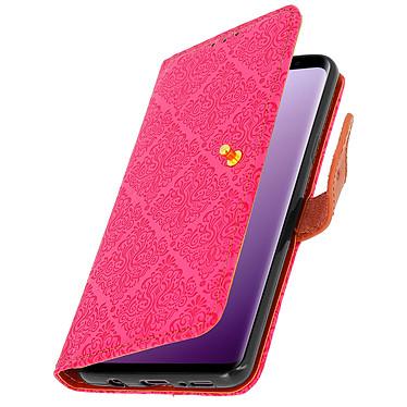 Avizar Etui folio Rose pour Samsung Galaxy S9 Plus pas cher