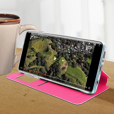 Avis Avizar Etui folio Fuchsia Éco-cuir pour Samsung Galaxy S10