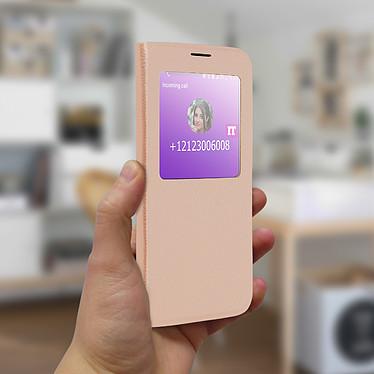 Avis Avizar Etui folio Dorée à fenêtre pour Samsung Galaxy S10e