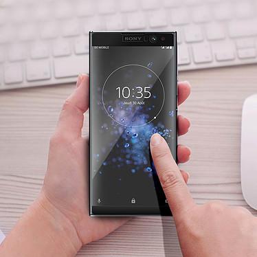 Acheter Avizar Film verre trempé Noir pour Sony Xperia XA2 Plus