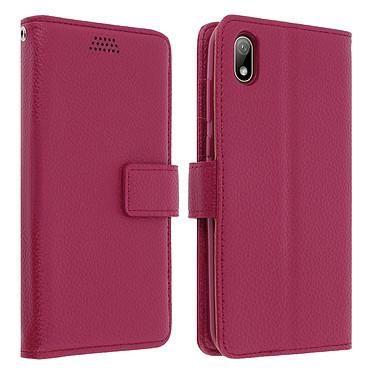 Avizar Etui folio Rose Éco-cuir pour Huawei Y5 2019 , Honor 8S Etui folio Rose éco-cuir Huawei Y5 2019 , Honor 8S