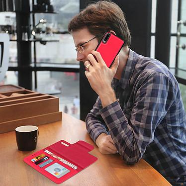 Avis Avizar Etui folio Rouge Portefeuille pour Samsung Galaxy A70