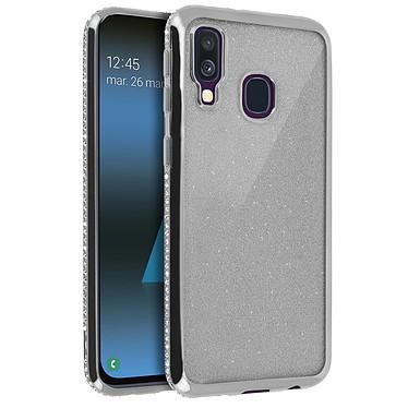Avizar Coque Argent Design pailleté pour Samsung Galaxy A40 pas cher