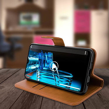 Avis Avizar Etui folio Marron pour Samsung Galaxy A10