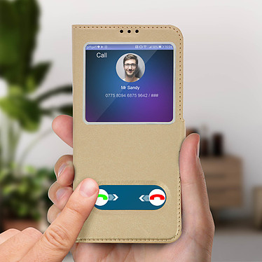 Acheter Avizar Etui folio Dorée pour Huawei P30 Lite , Honor 20S , Huawei P30 Lite XL
