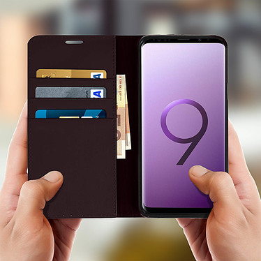 Acheter Avizar Etui folio Marron pour Samsung Galaxy S9 Plus