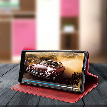 Avis Avizar Etui folio Rouge Vieilli pour Sony Xperia 1
