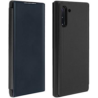 Avizar Etui folio Noir Design Miroir pour Samsung Galaxy Note 10 Etui folio Noir design effet miroir Samsung Galaxy Note 10