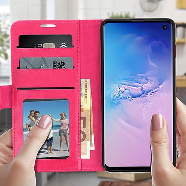 Acheter Avizar Etui folio Rose Éco-cuir pour Samsung Galaxy S10