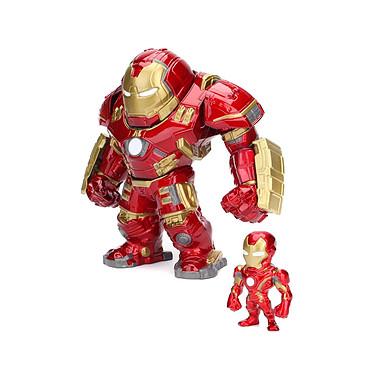 Avengers L'Ère d'Ultron - Figurines Metals Die Cast Hulkbuster & Iron Man 15 cm Figurines Metals Die Cast Avengers L'Ère d'Ultron, modèle Hulkbuster & Iron Man 15 cm.