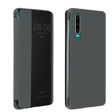 Avizar Etui folio Gris pour Huawei P30 Etui folio Gris Huawei P30