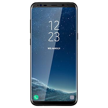 Avizar Film verre trempé Noir pour Samsung Galaxy S8 Plus Film verre trempé Noir Samsung Galaxy S8 Plus