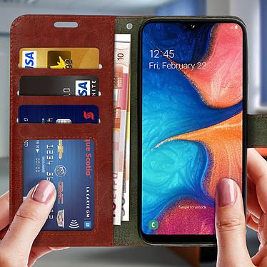 Acheter Avizar Etui folio Marron pour Samsung Galaxy A20e