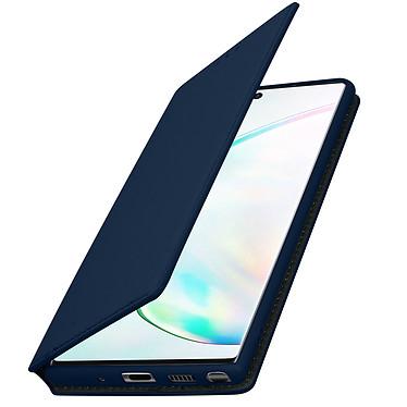 Avizar Etui folio Bleu Nuit Éco-cuir pour Samsung Galaxy Note 10 pas cher