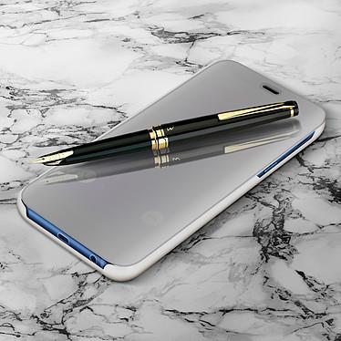 Avizar Etui folio Argent pour Samsung Galaxy A6 Plus pas cher