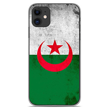 1001 Coques Coque silicone gel Apple iPhone 11 motif Drapeau Algérie Coque silicone gel Apple iPhone 11 motif Drapeau Algérie