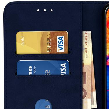Avizar Etui folio Bleu Nuit pour Samsung Galaxy A10 pas cher