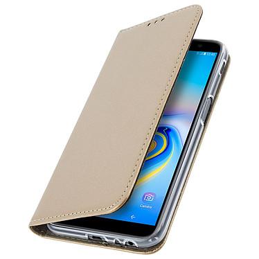 Avizar Etui folio Dorée pour Samsung Galaxy J6 Plus pas cher